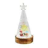【クリスマス】 クリスマスファクトリー ガラスドーム LED コーン SA&SN 21302