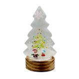 【クリスマス】 クリスマスファクトリー ガラスドーム LED ツリー M SA&SN 21334