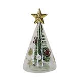 【クリスマス】 クリスマスファクトリー ガラスグリーンツリーライト 22860