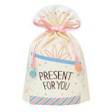 インディゴ ギフトバッグ M プレゼント PG101 アイボリー│ラッピング用品 ラッピング袋
