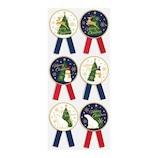 【クリスマス】 インディゴ リボンシール スノーワールド XS111 ネイビー/ホワイト