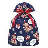 【クリスマス】 インディゴ グリーティングバッグ ギフトベア LL XG157 ネイビーブルー