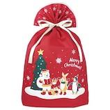 【クリスマス】 インディゴ グリーティングバッグ ワンダーランド 4L XG158 レッド