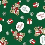 【クリスマス】 インディゴ ロールペーパー ギフトベア XW165 グリーン