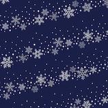 【クリスマス】 インディゴ ロールペーパー スノークリスタル XW166 ネイビーブルー