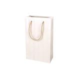 インディゴ ナローバッグ S ヘリンボーン PC202 ホワイト│ラッピング用品 手提げ袋