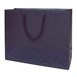 インディゴ キャリーバッグ M モロカン PC226 ネイビーブルー│ラッピング用品 手提げ袋