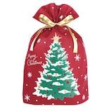 【クリスマス】 インディゴ グリーティングバッグ LL XG402 レッド