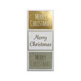 【クリスマス】 インディゴ シール メリークリスマス ゴールド XS489