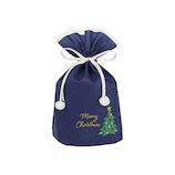 【クリスマス】 インディゴ スモールバッグ ツリー XG492 ネイビーブルー