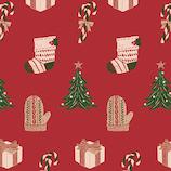【クリスマス】 インディゴ ロールペーパー ハッピークリスマス XW514 レッド