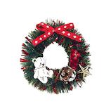 【クリスマス】 インディゴ オーナメントブローチ XR526 リース