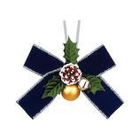 【クリスマス】 インディゴ ボウリボン ベルベット XR531 ブルー
