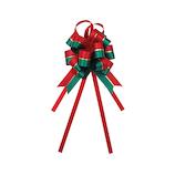 【クリスマス】 インディゴ ボウリボン ストライプ XR534 レッド/グリーン