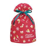 【クリスマス】 インディゴ グリーティングバッグ L ウィンターモチーフ XG547 レッド