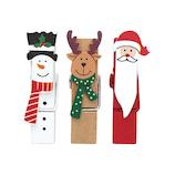 【クリスマス】 インディゴ オーナメントクリップ リトルフレンズ XR555