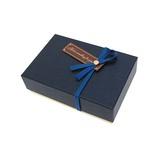 インディゴ VB600 トリュフボックス レザリー ネイビーブルー│ラッピング用品 ギフトボックス(完成品) バレンタイン チョコ 手作り お菓子