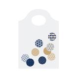 インディゴ PP809 お福分け袋 ちらし小紋 藍/金 10枚入