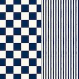 インディゴ 文様紙 〈和シリーズ〉 ロール 市松/縞 PW810 藍│ラッピング用品 包装紙・ラッピングペーパー