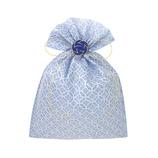 インディゴ 飾り袋 七宝/青