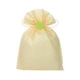 インディゴ 飾り袋 七宝/黄
