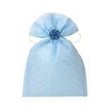 インディゴ 飾り袋 七宝/水