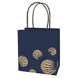 インディゴ 手提袋S (和シリーズ) PC954 丸扇/藍│ラッピング用品 手提げ袋