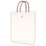 インディゴ 手提袋 和シリーズ M PC956 鈴/白│ラッピング用品 手提げ袋