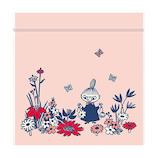 インディゴ ジッパーバッグ S MP206 リトルミイ/ガーデン ライトピンク│ラッピング用品 ラッピング袋