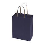 インディゴ キャリーバッグ Mサイズ PC235 エンブレム ネイビーブルー│ラッピング用品 手提げ袋