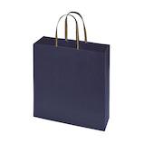 インディゴ キャリーバッグ Lサイズ PC236 エンブレム ネイビーブルー│ラッピング用品 手提げ袋
