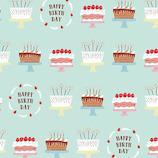 インディゴ ラッピングペーパー ロール PW272 バースデーケーキ ミントグリーン│ラッピング用品 包装紙・ラッピングペーパー