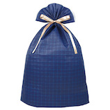 インディゴ ワッフルバッグ 5Lサイズ PG361 ネイビーブルー│ラッピング用品 ラッピング袋