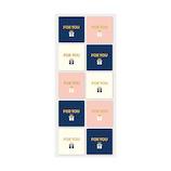 インディゴ シール PS527 フォー・ユー ライトピンク/ネイビーブルー│ラッピング用品 ラッピングシール