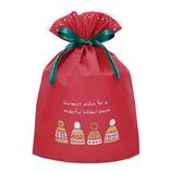 【クリスマス】 インディゴ XG615 グリーティングバッグ LL ボウシ レッド│ラッピング用品 ラッピング袋