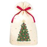 【クリスマス】 インディゴ XG618 グリーティングバッグ 4L クリスマスツリー アイボリー│ラッピング用品 ラッピング袋