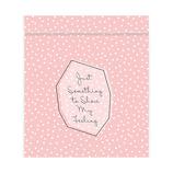 インディゴ ジッパーバッグ S VP707 プチドット ライトピンク |バレンタイン プレゼント ギフト チョコ プチギフト 手作り お菓子
