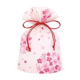 インディゴ 和・桜シリーズ 巾着袋 S PG743 まるみ桜│ラッピング用品 ラッピング袋