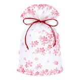 インディゴ 和・桜シリーズ 巾着袋 M PG744 春桜│ラッピング用品 ラッピング袋
