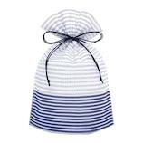 インディゴ 巾着袋 M PG837 豆絞り 紺│ラッピング用品 ラッピング袋