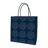 インディゴ 手提袋 M PC841 かすり水玉 藍