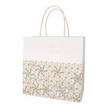インディゴ 手提袋 M PC947 麻の葉 金茶│ラッピング用品 手提げ袋