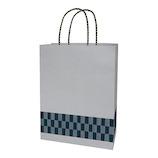 インディゴ 手提袋 M PC949 市松 銀ねず│ラッピング用品 手提げ袋