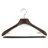 バルミーハンガー(Balmy Hanger) スーツ用ハンガー BH-4160E ブラウン│ハンガー・衣類収納 樹脂製ハンガー