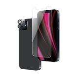 【iPhone12 mini】 ルプラス×東急ハンズ ガラス+カメラ保護 超透明 i12m│携帯・スマホアクセサリー 液晶保護フィルム