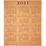 【2021年版・ポスター】オブジェクト コルクカレンダー 大・縦タイプ LT