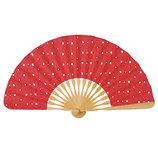 山二 婦人布扇 プティエール 1046S 赤 扇袋付