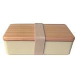BENTOSTORE 木蓋のお弁当箱古代杉 500mL ベージュ
