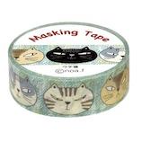 ノアファミリー マスキングテープ ウチ猫 P192UN 幅1.5cm×長10m巻