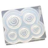 亀島商店 シリコーン型 ソフトモールド C−695 シナモンロール立体型│型取り・成型材料 シリコンゴム